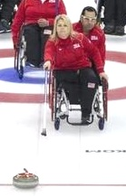 Wheelchair curling delivery